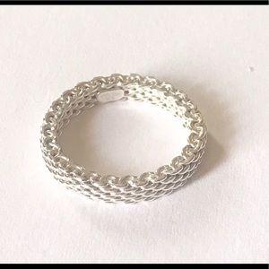 Tiffany & Co. Jewelry - 💝Somerset Mesh Oxidized Thin Band Ring Gorgeous💝